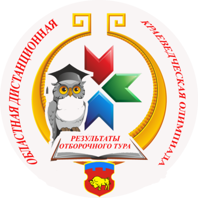 РЕЗУЛЬТАТЫ отборочного тура областной дистанционной краеведческой олимпиады
